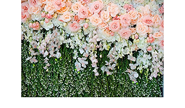GoHeBe 7x5ft Pink Backdrop Surround by Flowers and Pineapple Photography Backdrops Photo Studio Background Props LYGE992