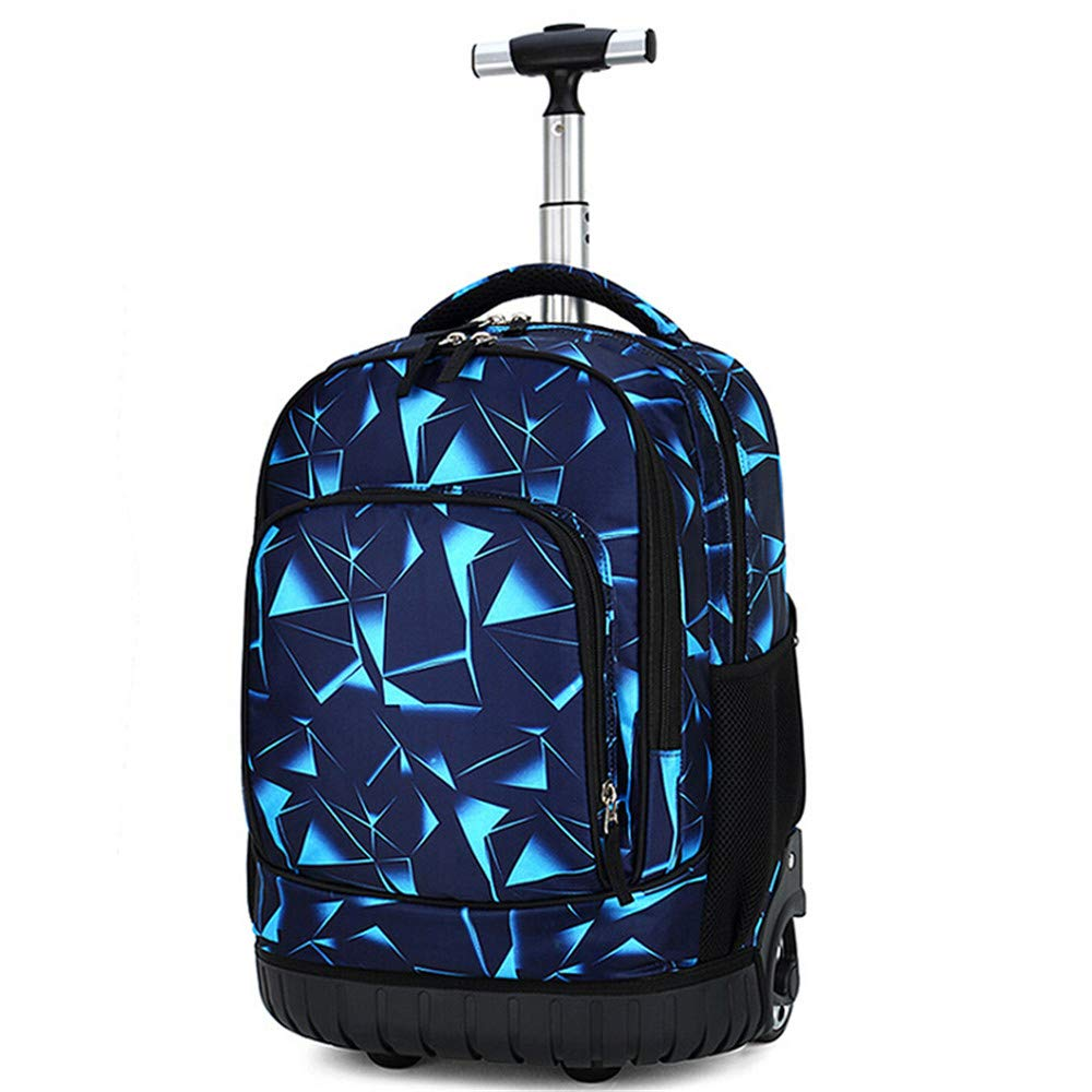 Rolling Backpack Travel Wheeled Trolley Luggage Students Galaxy School Books Bag by strylin
