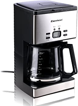 Excelvan CM6626T 1000W 12-15 Cups Stainless Steel Coffee Machine