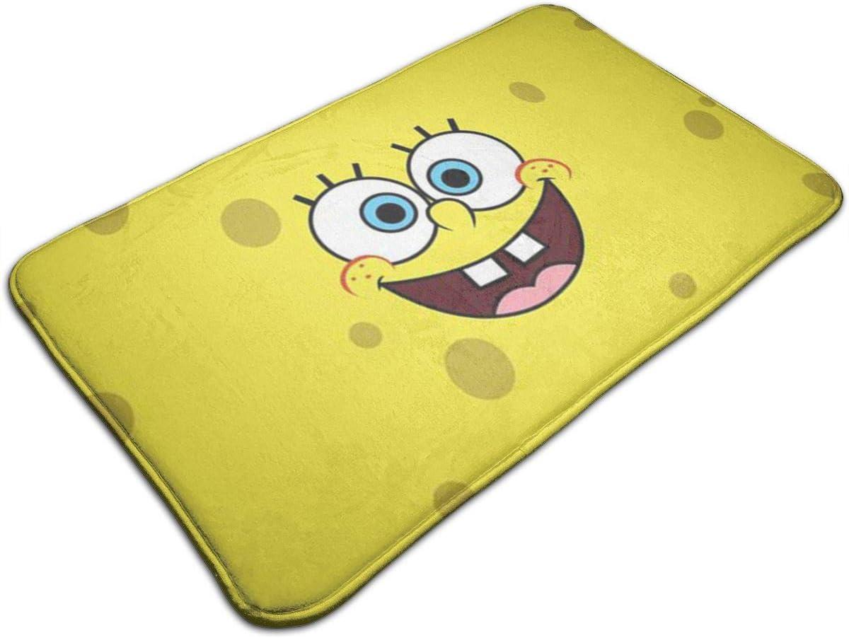 Duwamesva Bath Mat- Spongebob Design, Non Slip Absorbs Soft Rug Carpet for Indoor Outdoor Patio