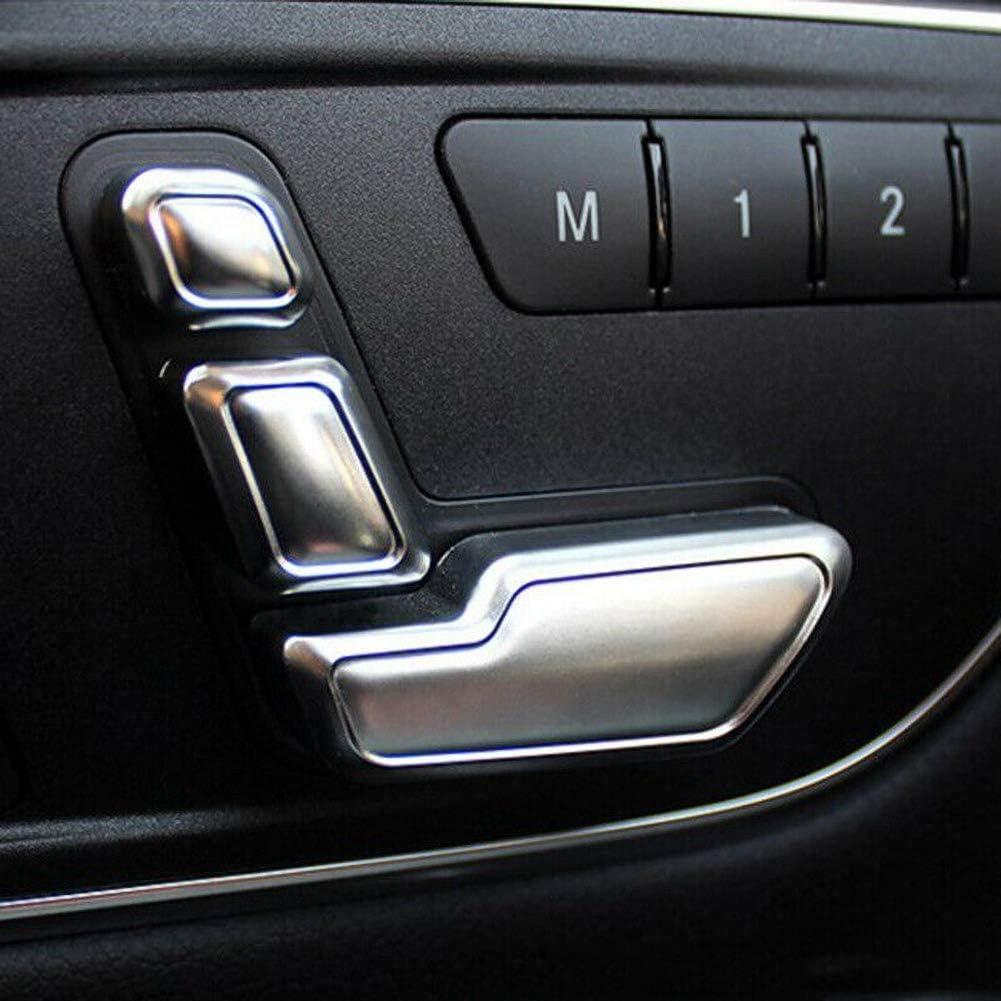 housesweet 6er Pack Autositz einstellen Knopfschalter Fenster Schalter Knopfabdeckung Aufkleber Zierleiste Innendekoration