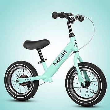 Bicicleta de Equilibrio for niños, Bicicletas for niños o niñas Plegables al Aire Libre - Sin Pedales Deporte de Entrenamiento Bicicleta de Aluminio for niños de 2 a 6 años de Edad (