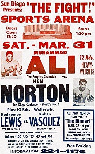 (Muhammad Ali vs Ken Norton - 1973 - Fight Promotion Poster)