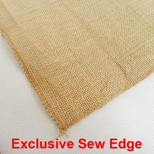 mds Pack Of 10 Wedding 12 x 108 inch Burlap Table Runner Natural jute Country Vintage For Wedding Banquet Decoration – Natural jute Burlap by mds (Image #4)