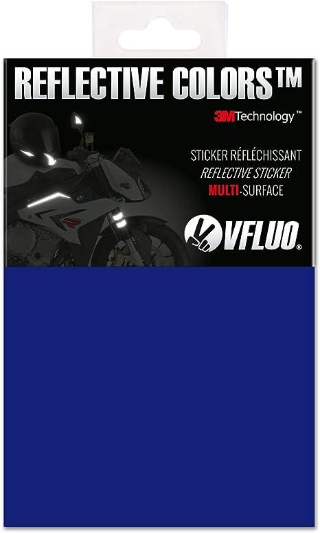 STICKER RETRO REFLECHISSANT ETOILES ETOILE bleu//gris CASQUE MOTO SCOOTER VELO