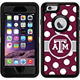 OtterBox Apple iPhone 6/6s Black Defender Case with Texas A&M Polka Dots, Full-Color Design