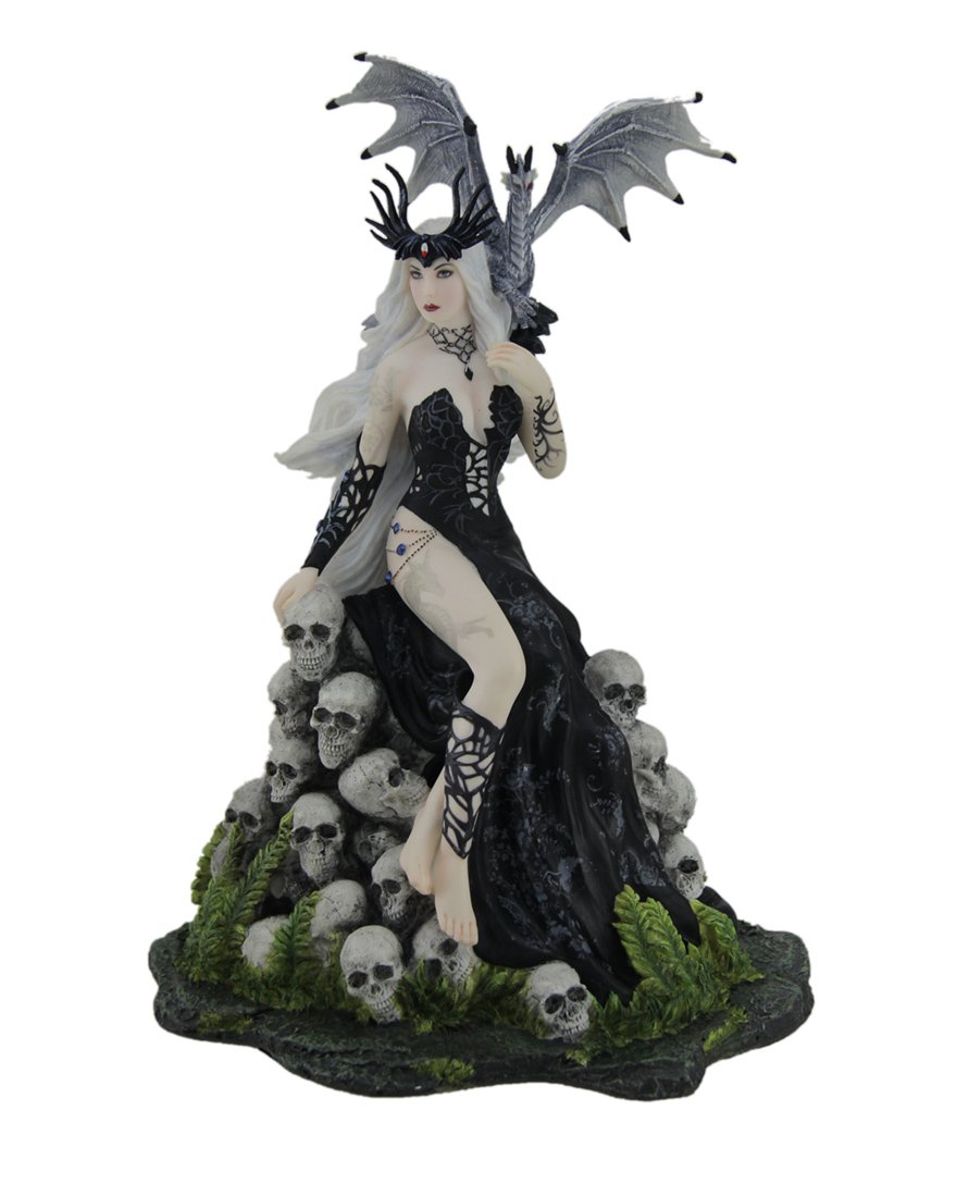 Veronese Design Nene Thomas Mad Queen Hand Painted Fantasy Statue 7 X 9.75 X 6 Inches Gray