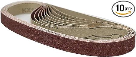 "10 PACK 1/"" x 42/"" 800 Grit Aluminum Oxide Metal /& Wood Sanding Belts Ultra Fine"