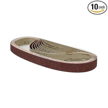 Amazon.com: POWERTEC Cinturón de lija de óxido de aluminio ...