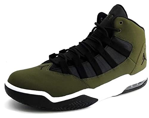 bf69a1a59a42d7 Amazon.com  Nike Jordan MAX Aura Mens Fashion-Sneakers AQ9084-300 9 - Olive  Canvas Black-White-Black  Sports   Outdoors