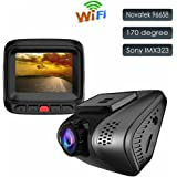 Dash Cam Car Camera Accfly1080P Full HD Mini Blackbox Recorder DVR with Sony Sensor Built-In Wi-Fi ,WDR,Night Vision ,G-Sensor,Motion Detection,Loop Recording (Version-1)
