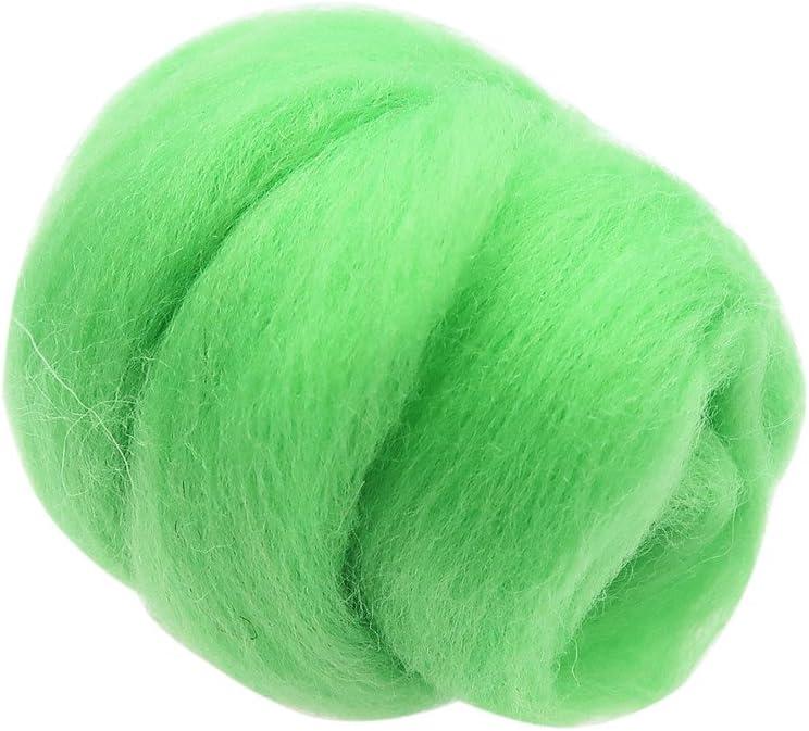 10g Felt Wool Fibre Wool Yarn Roving for Needle Felting Hand Spinning Craft Grey