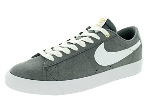 b83477b7a64d Nike Men s Blazer Low GT Cool Grey White Tide Pool Blue Skate Shoe 7.5