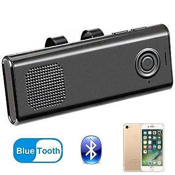 Manos Libres Bluetooth Coche Kit, Soporta GPS/Música, Altavoz ...