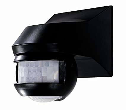 Theben 1010962 Luxa 101-180 - Detector de movimiento, color negro