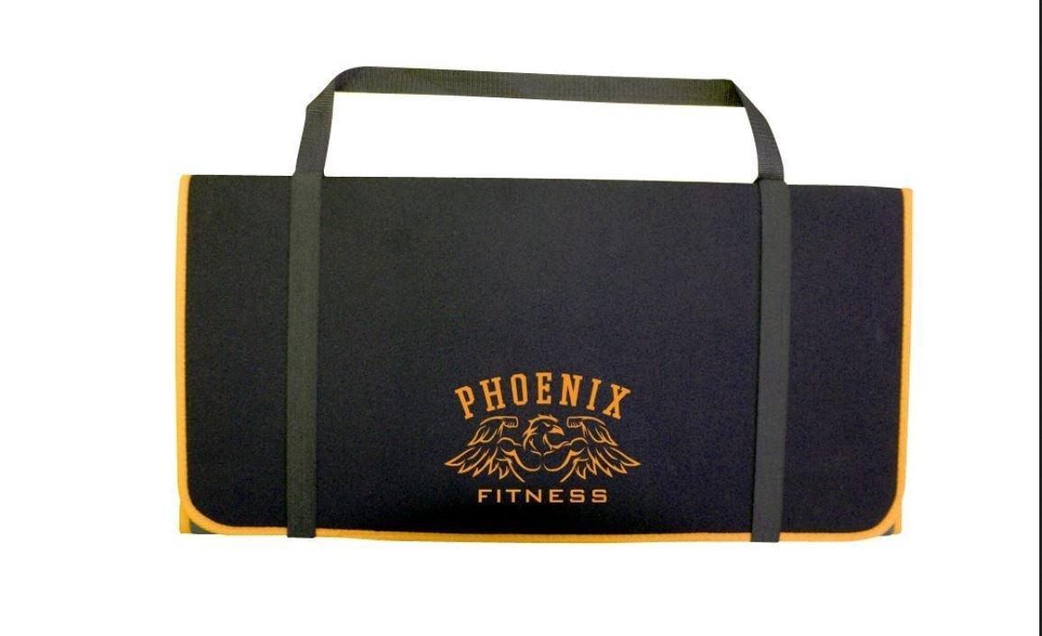 Phoenix RY994 Pliant Tapis de Fitness Noir