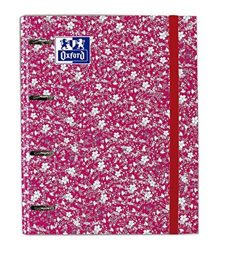 Oxford Floral, Carpeta con Recambio, Surtido Floral 4 Colores: Amazon.es: Oficina y papelería