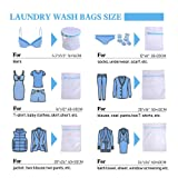 Mesh Laundry Bag Delicates -6 Pack Durable Lingerie Bags for Laundry, Thick Mesh with Thickened Rust Proof Zipper for Washing Machine. Wash Bags for Bra, Socks, Underwear, Garment and Travel Organizer