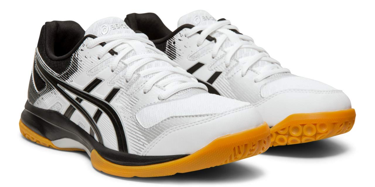 ASICS Gel-Rocket 9 Women's Volleyball Shoes, White/Black, 5 M US
