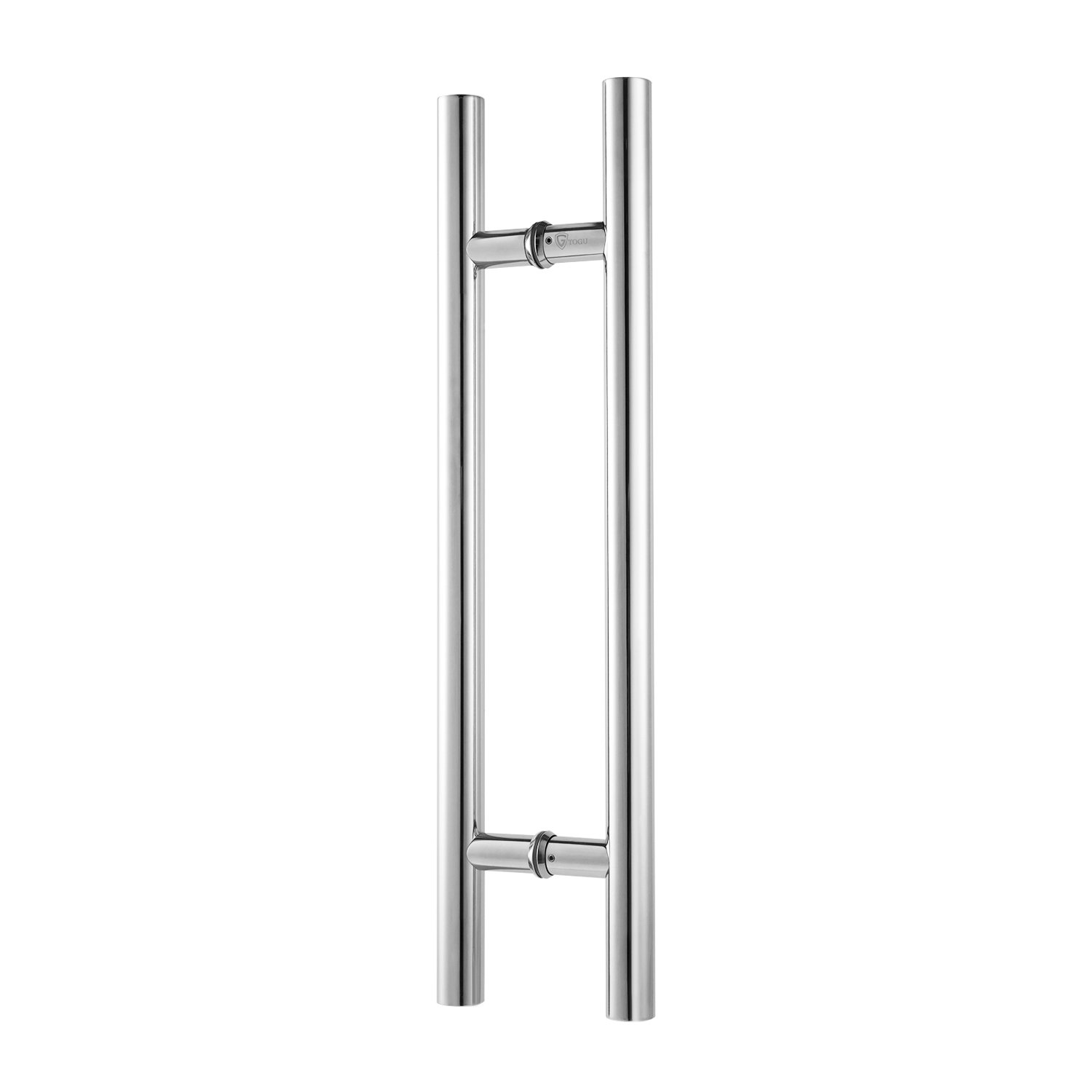 Togu TG-6012 600mm/24 inches Round Bar / H-shape/ Ladder Style Back to Back Stainless Steel Push Pull Door Handle for Solid Wood, Timber, Glass and Aluminum Doors,Mirror-Polished Chrome Finish