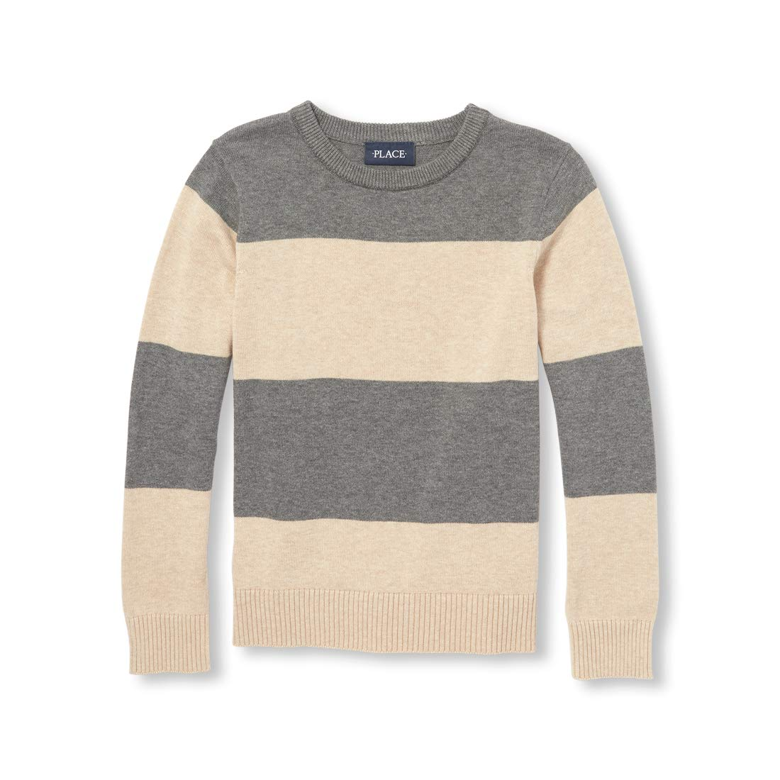 The Childrens Place Big Boys Kid Long Sleeve Stripe Sweater