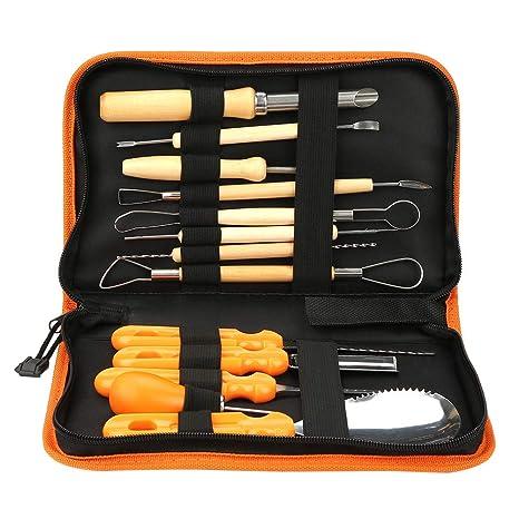 Kit de talla de calabaza, cuchillos de talla Manual Sculpt ...