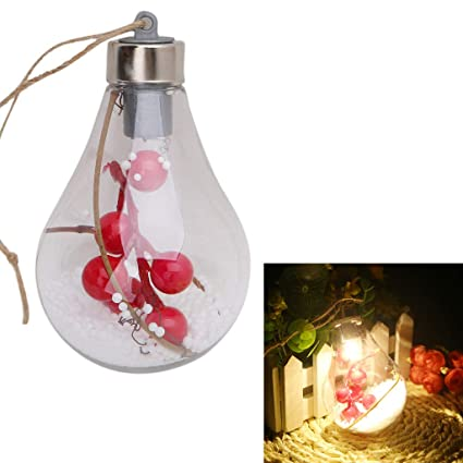 Doiber 1pc Warm and Sweet Atmosphere LED Bulb Ball Light Lamp Christmas Tree Hanging Ornaments Party