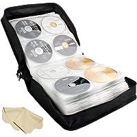 BlueCubi 288 Capacity Portable CD DVD Wallet Binder Book Sleeves Disc Storage Bag Carrying Case