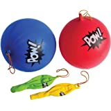 Superhero PUNCHBALLS - super hero party favors and toys (24 PC PARTY PACK)