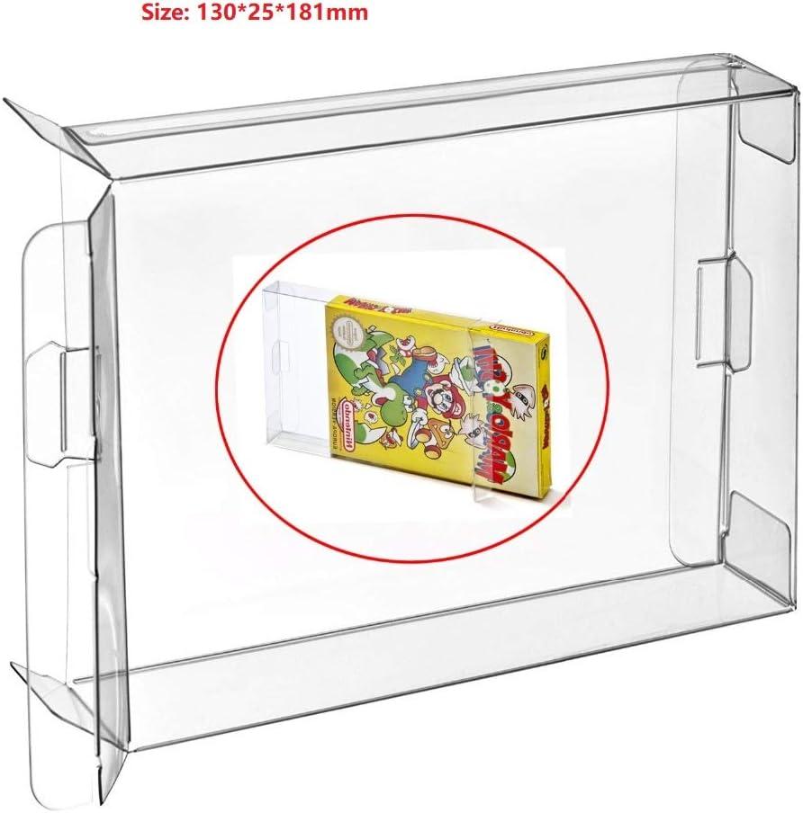 Childhood 10pcs claro caja de la caja de manga CIB protector para NES juegos cartucho de caja: Amazon.es: Videojuegos