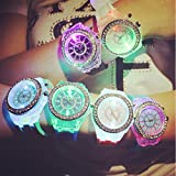 CdyBox Silicone Bling Watch LED Luminous...