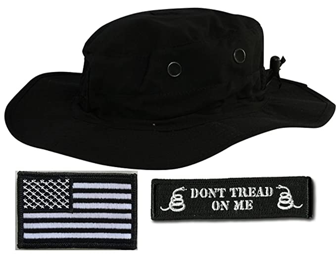 260b639c1ad4e Gadsden and Culpeper Operator Boonie Hat Bundle   Patches - USA DTOM Black