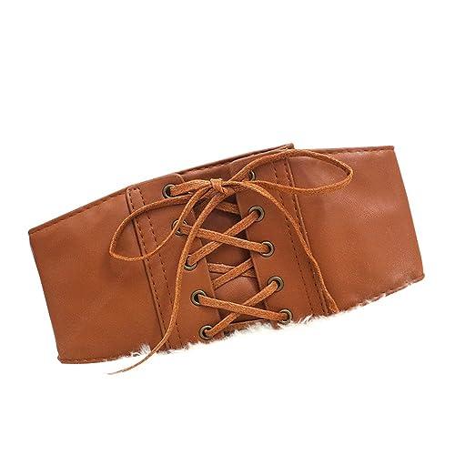 Sitong - Cinturón - para mujer Marrón marrón Talla única