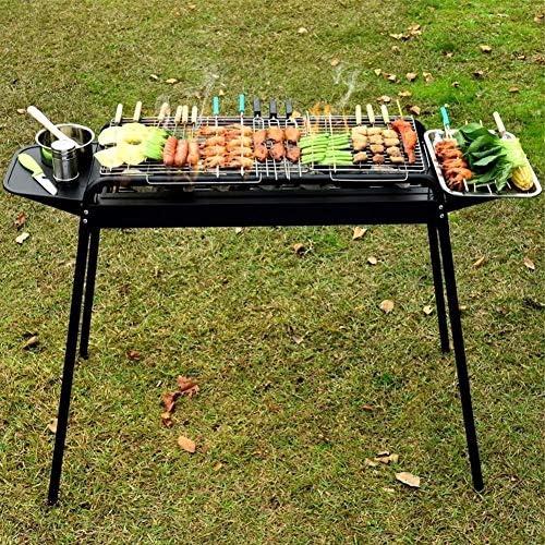 Luorizb Barbecue en Plein air Portable indépendant Carbon Cao Multiplayer Parti Camping Grande Fer Maison Barbecue au Charbon