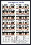 PIANO 12 SCALES POSTER - EVERY NOTE FOR ANY KEY