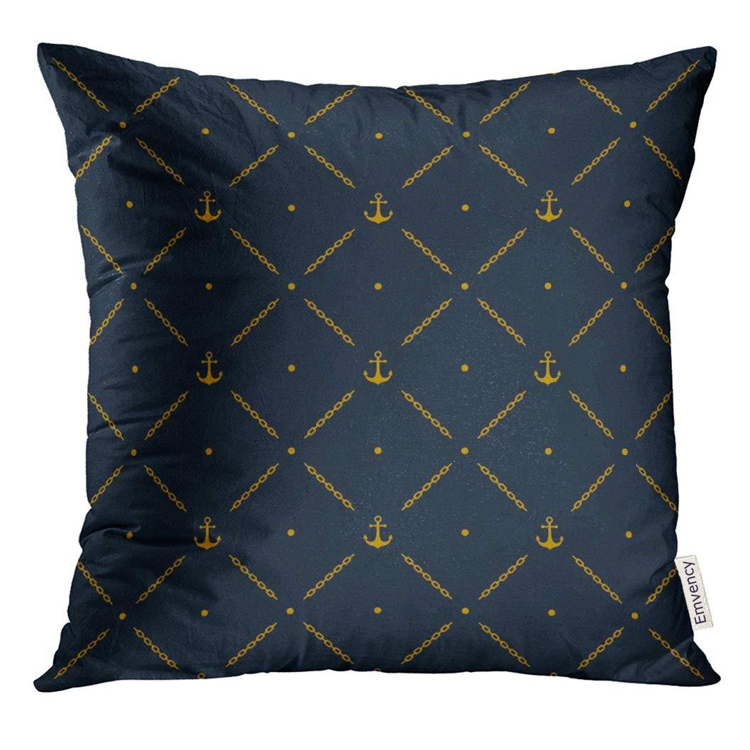 Amazoncom Golee Throw Pillow Cover Navy Nautical Marine With