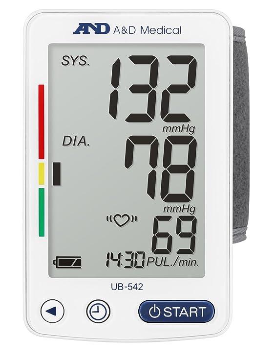 A&D Medical UB-542XL Tensiómetro digital de muñeca, blanco: Amazon.es: Salud y cuidado personal