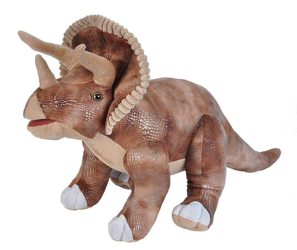 Wild Republic Dinosaurs, Triceratops Plush Stuffed Animal Toy, Gifts for Kids, 28''