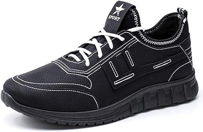 ZLYZS Calzado Casual para Hombre, Zapatillas Impermeables Amortiguación Zapatillas Antideslizantes para Caminar Entrenador Ligero Correr Transpirable,Negro,EU41: Amazon.es: Hogar