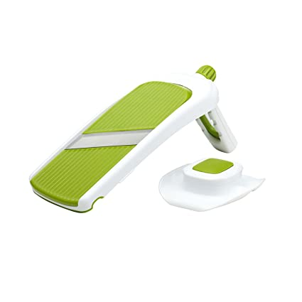 Superbe Chefu0027n Sleek Slice Handheld Collapsible Mandoline, Green