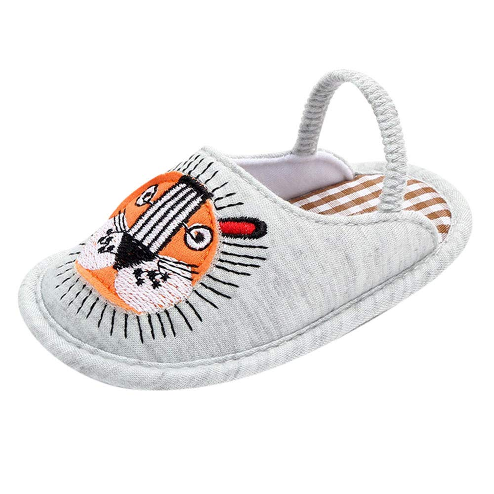 OCEAN-STORE Toddler Boys Puppy Cotton Warm Winter Non-Slip House Slipper Kids Athletic Running Shoes Knit Breathable Lightweight Walking Tennis Sneakers for girlsGray0-3 Months