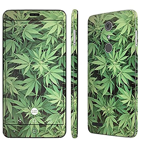 ZTE [ZMAX PRO] Skin [NakedShield] Scratch Guard Vinyl Skin Decal [Full Body Edge] [Matching WallPaper] - [Marijuana Background] for ZTE [ZMAX PRO] [Carry (Zte Zmax Phone Case Marijuana)