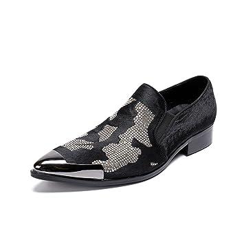 CAI Zapatos de Hombre Novedad/Acentuados/Mocasines 2018 Bullock/Zapatos Formales tallados/Zapatos Casuales de Cuero para Hombres/Zapatos de Cuero de Baja ...
