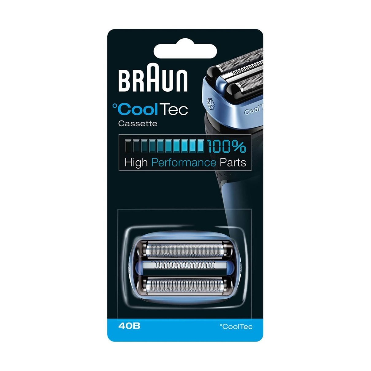 Braun CoolTec 40B Foil & Cutter Replacement Head, Compatible with CoolTec Shaver