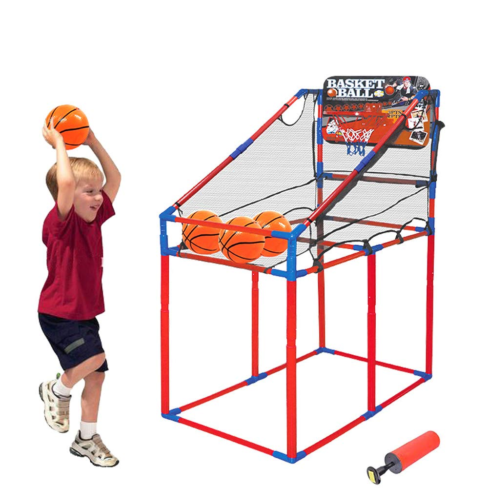 Portzon Basketball Hoop Arcade Game, Adjustable Hoop Shooting Games for Outdoor/Indoor Play with 3 Ball by Portzon