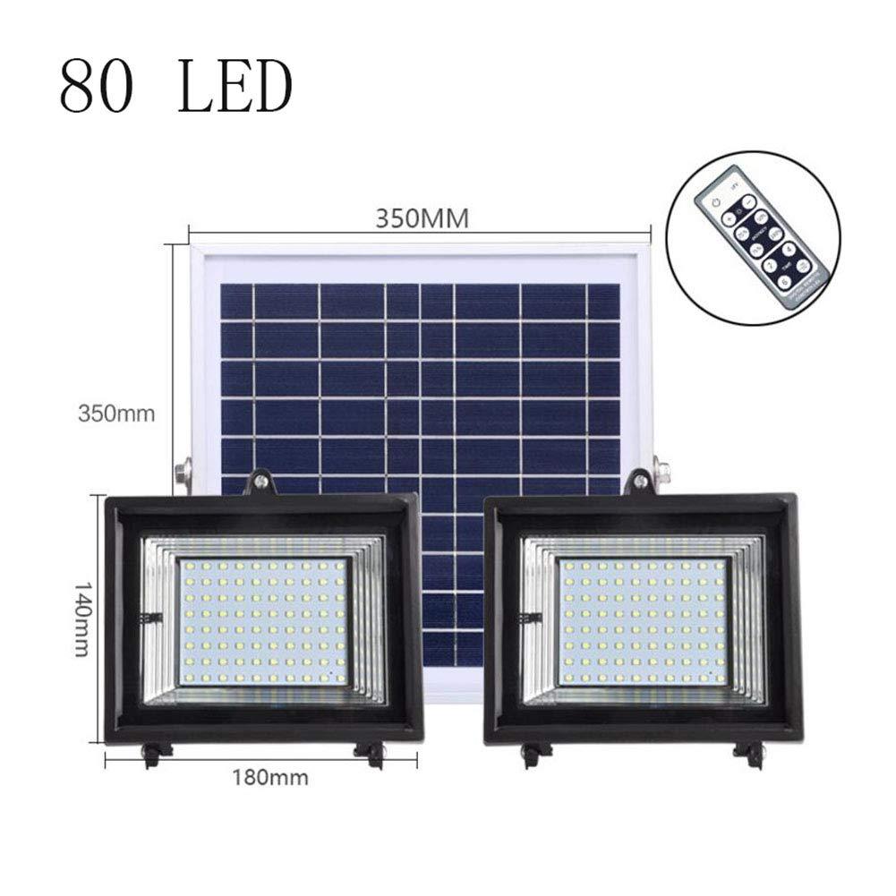 Suguoguo 80LED Solarflut Licht, Sicherheitslampe, Scheinwerfer, Outdoor-Sicherheitslicht für Gartenheim-Yard, Driveway, wasserdicht