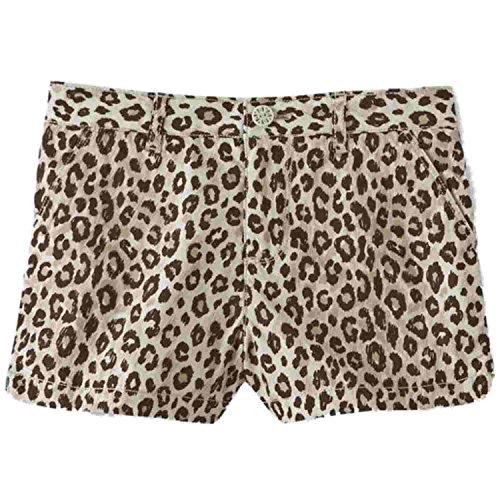(Toughskins Infant & Toddler Girls Brown & Tan Leopard Print Poplin Shorts 3T)