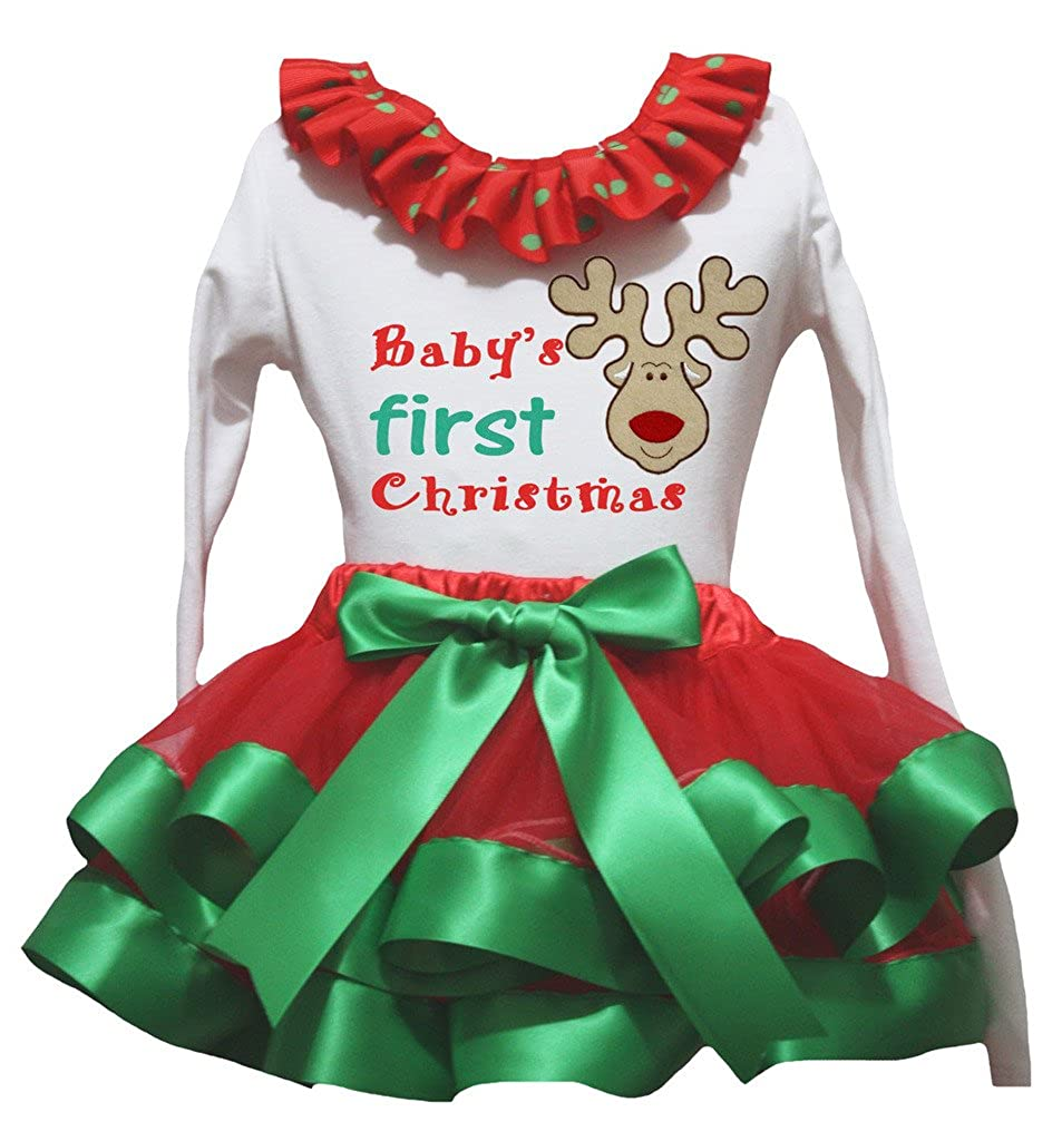 Petitebella Bling 2nd L//s Shirt Merry Christmas Gold Petal Skirt Outfit Nb-8y