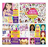 #8: Melissa & Doug Sticker Pads Set: Jewelry and Nails, Dress-Up, Make-a-Face, Favorite Themes - 1225+ Stickers