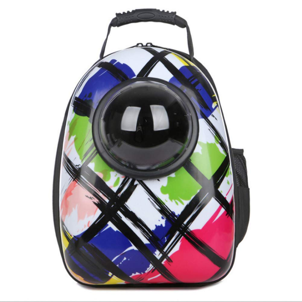 Graffiti color MZIOFV Package Pet Dog cat Backpack Outdoor Folding Portable Small Dogs cat Bag Dog Leather Bag Capsule pet